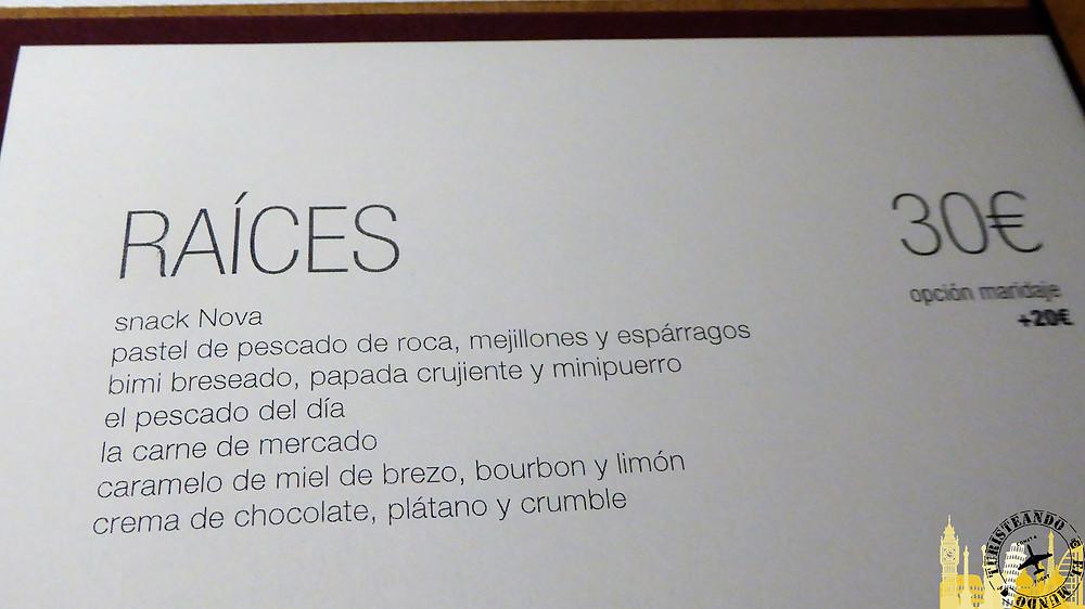 Restaurante Nova. Ourense (Galicia)