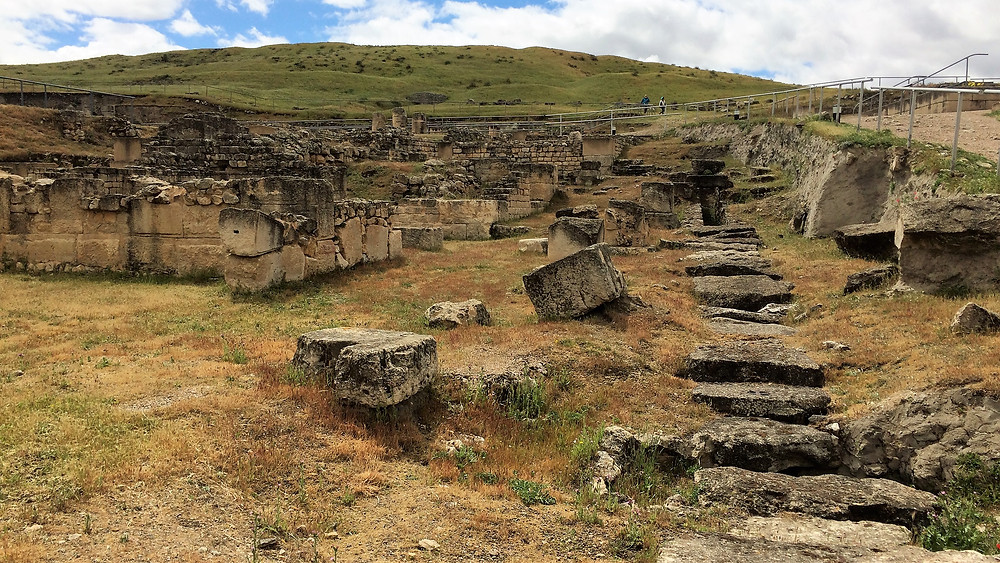 Segóbriga (Cuenca). España. Vías romanas