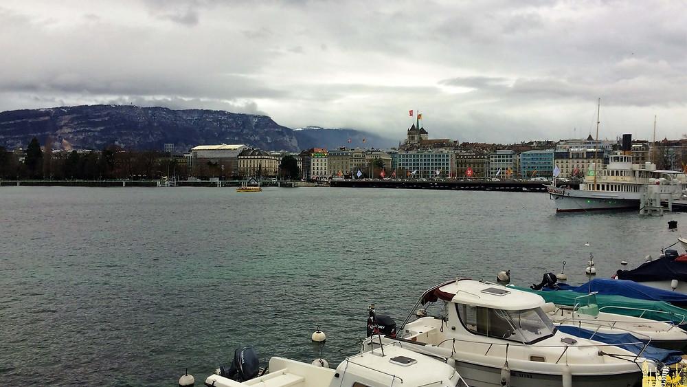 Lago Lemán, Ginebra (Suiza)