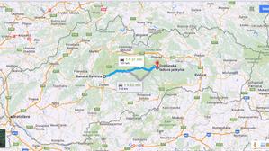 Ruta a Cueva de hielo (Eslovaquia)