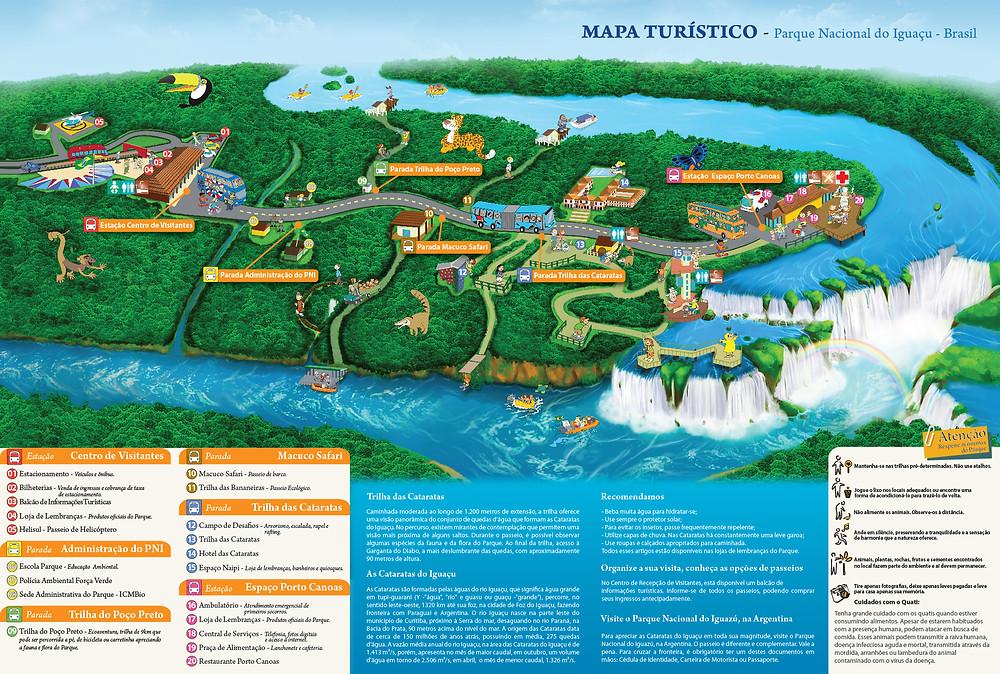 Mapa turístico Cataratas Iguazú (Brasil)