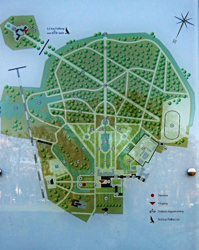 Plano palacios Brühl
