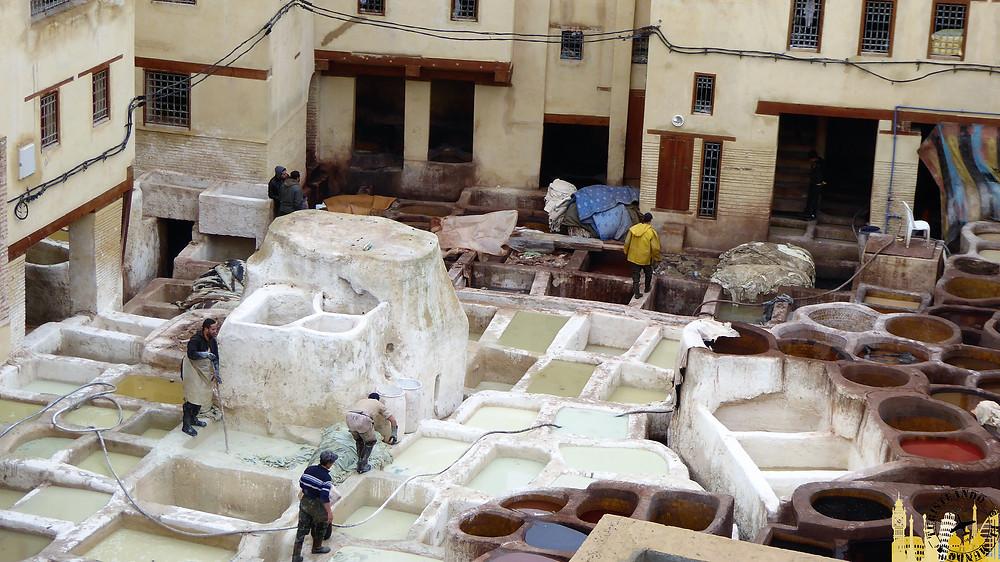 Curtidurías, Fez (Marruecos)