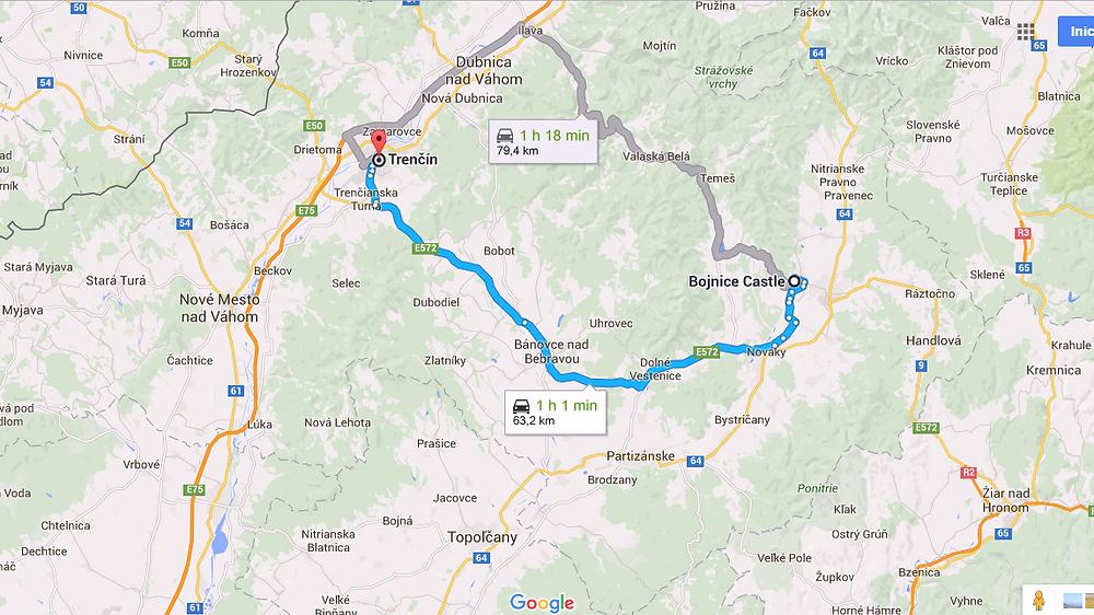 Ruta a Trencín (Eslovaquia)