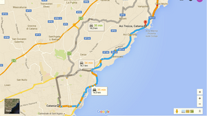 Ruta Catania-Acitrezza (Sicilia, Italia)