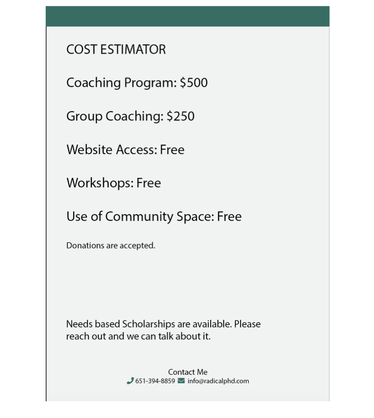 Cost Page