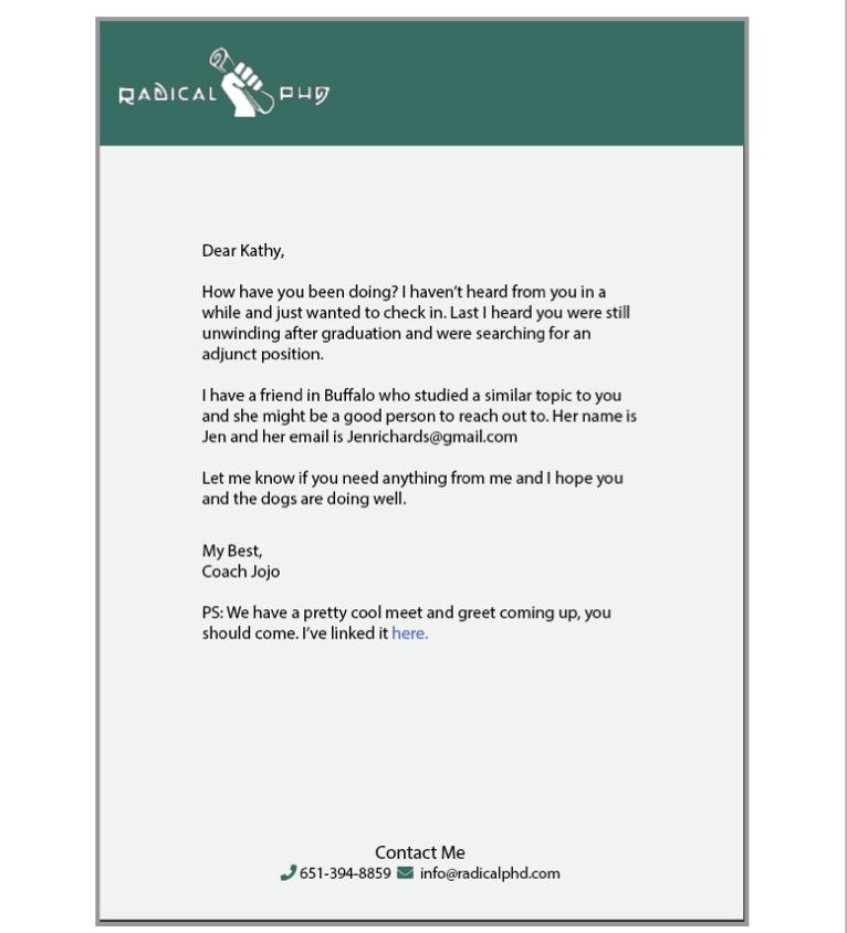 Letter to grad