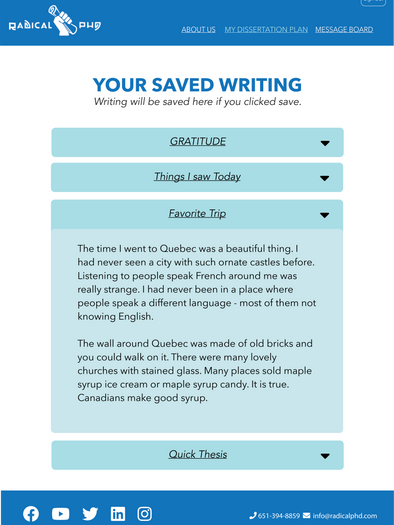 Saved writing