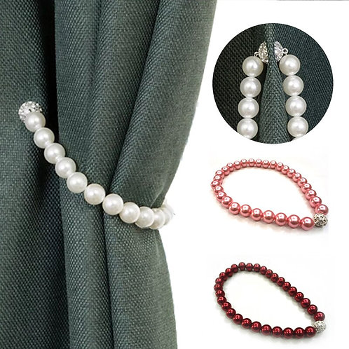 Modern Simple Curtain Pearl Tiebacks for Curtains With Magnet