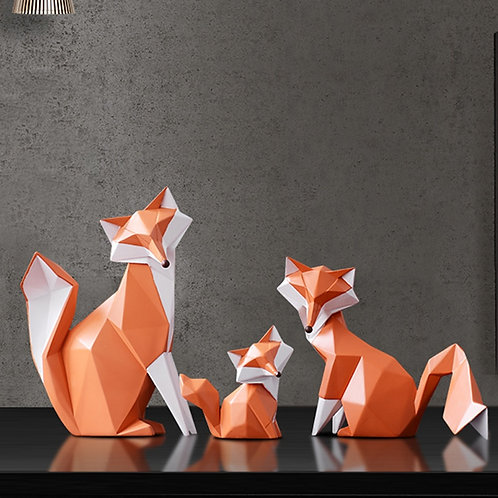 Modern Abstract Geometric Fox Crafts Desktop Ornaments