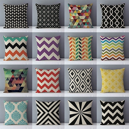 Quality Cozy Popular Geometric Couch Cushion