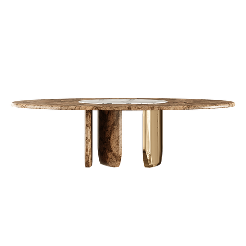Oval Dinning Table Pattern - Superbly detailed and hand crafted