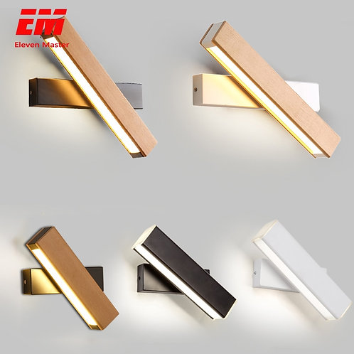Wooden Modern Led Wall Lights Bedside Wall Lamp