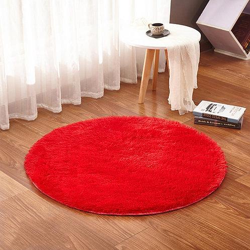 RULDGEE Fluffy Round Rug for Living Room Faux Fur Carpet