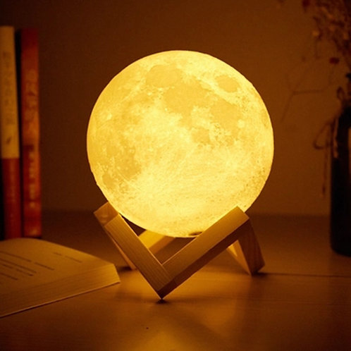 Foxanon Touch Sensor Light Lamp USB 3D Print Moon Lamp Lights