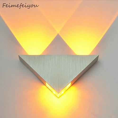 Modern Led Wall Lamp 3W Aluminum Body Triangle Wall Light