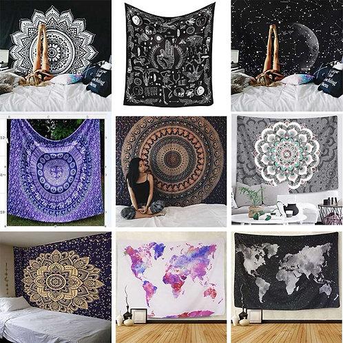 Indian Mandala Tapestry Wall Hanging Sandy Beach Throw Rug