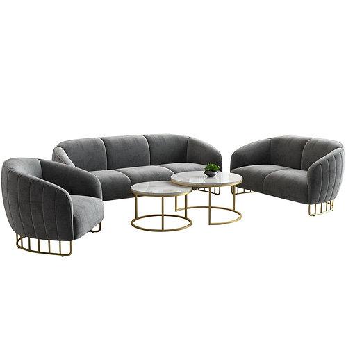 Karoisnordic Light Luxury Iron Modern Living Room Lazy Small Sofa