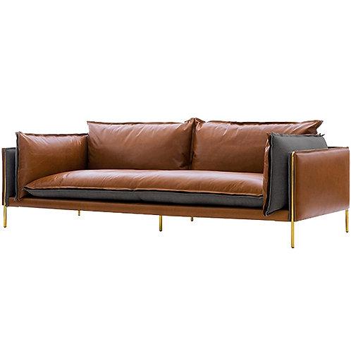 Karois-118 Nordic Sofa Light Luxury Leather Three-Person Sofa