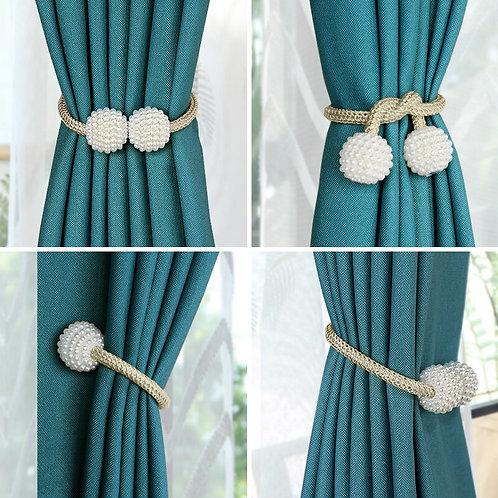 Ball Pearl Magnet Curtain Tiebacks Flexible  Curtain Rope