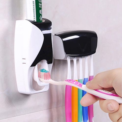 1 Set 5 Colors Automatic Toothpaste Dispenser Set 5 Toothbrush Holder