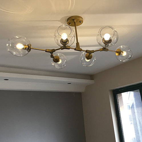 Industrial Style LED Ceiling Lights Glass Ceiling Lamp