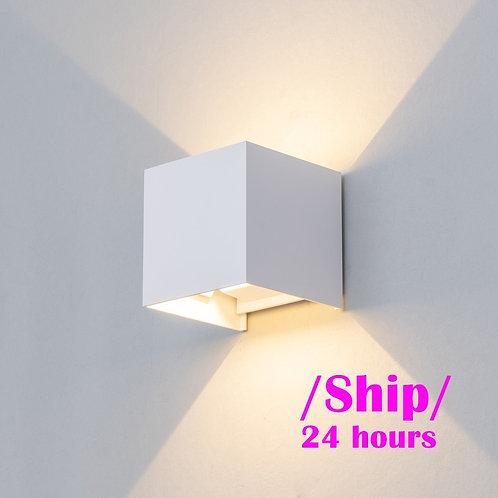Adjustable 6W LED Wall Lamp IP65 Waterproof Indoor & Outdoor Aluminum Wall Light