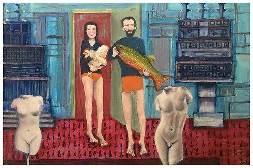 John Gigli Oil Painting 1000 x 700 mm