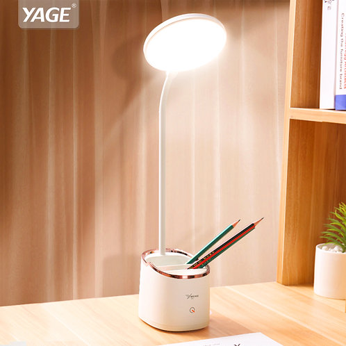 1800mAh 18650 Rechargeable Table Lamp Storage Pen Holder Lamps Table