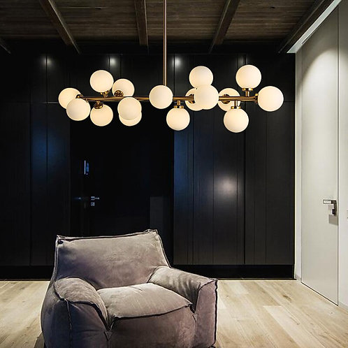 Art Fashion Magic Bean Led Chandelier Lamp Molecular Structure Lighting
