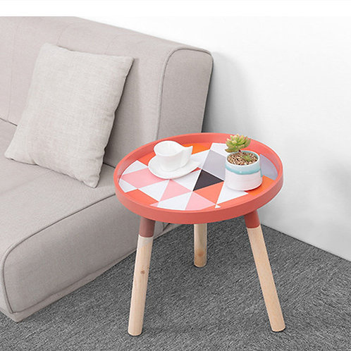 Small Fresh Mini Coffee Tables Creative Wood Low Round Tables
