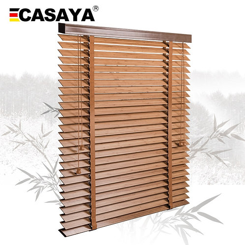 50mm Bamboo Blinds Ladder Type Venetian Blinds Eco-Frienly Natural Material