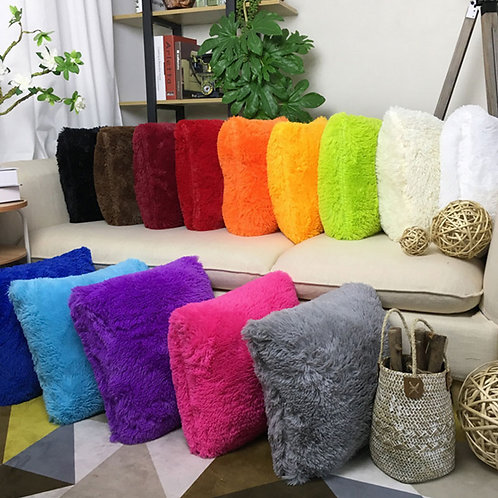 Soft Plush Faux Fur Decorative Cushion