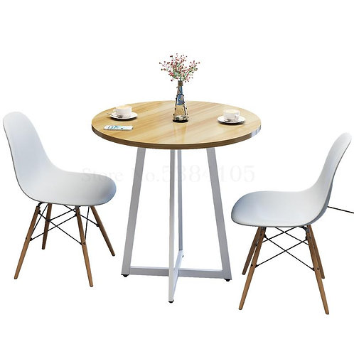 Simple Casual Coffee Table Small Apartment Dining Table and Chairs Balcony Table