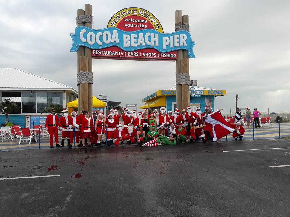 Cocoa beach pier skydiving santas