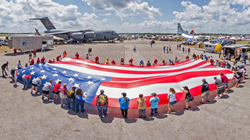 Massive American Flag Dropped In By Sky Divers