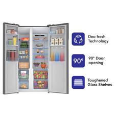 Haier 570 L Inverter Frost-Free Side-by-Side Refrigerator (HRF-622KS, Black Steel)  ₹ 54,990.00