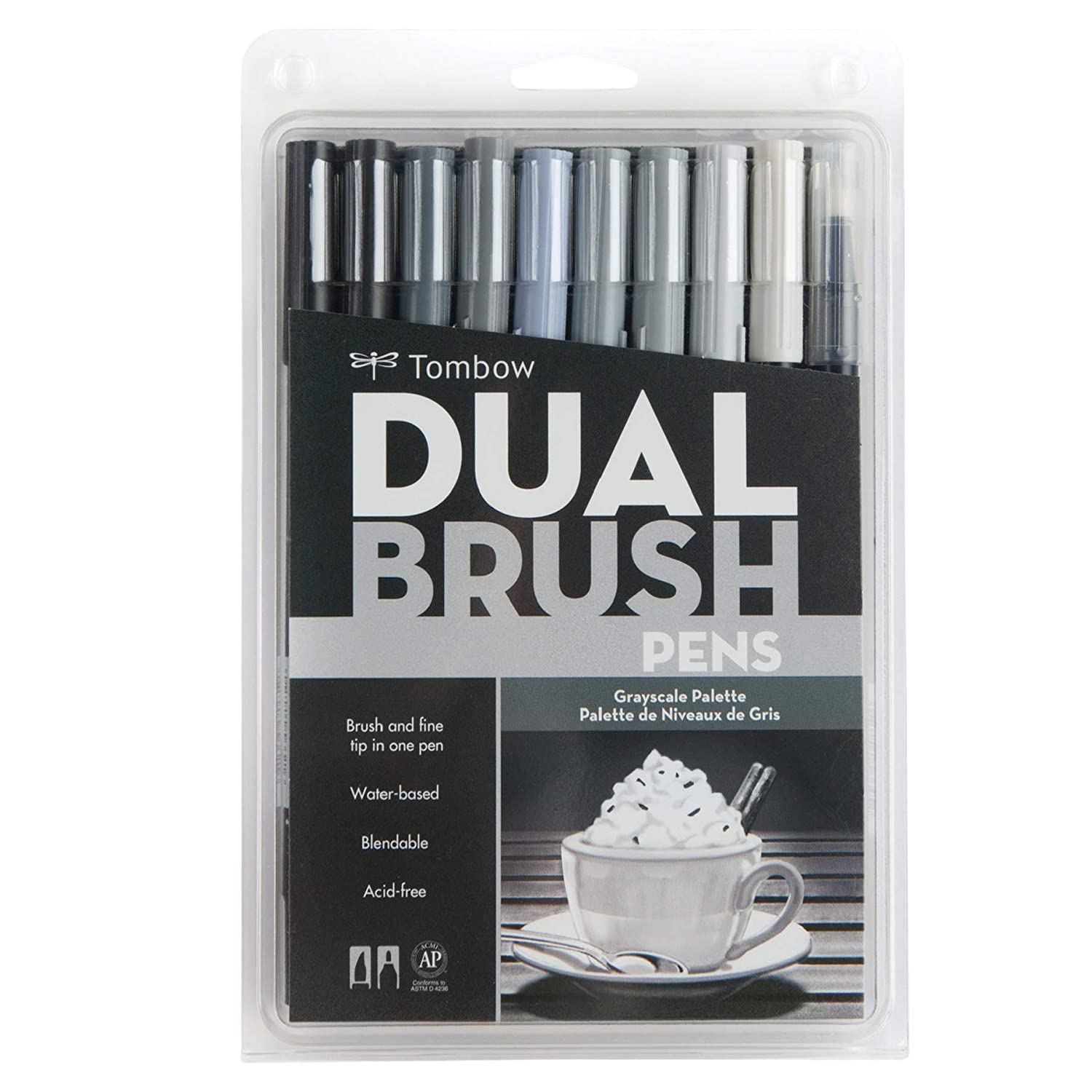 Tombow Dual Brush Pen Set, 10-Pack