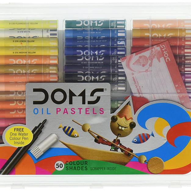 DOMS Oil Pastels 50 Shades, Non-Toxic EN 71-3 Standard Certified