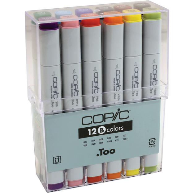 COPIC Basic Colors Marker (Set of 12)