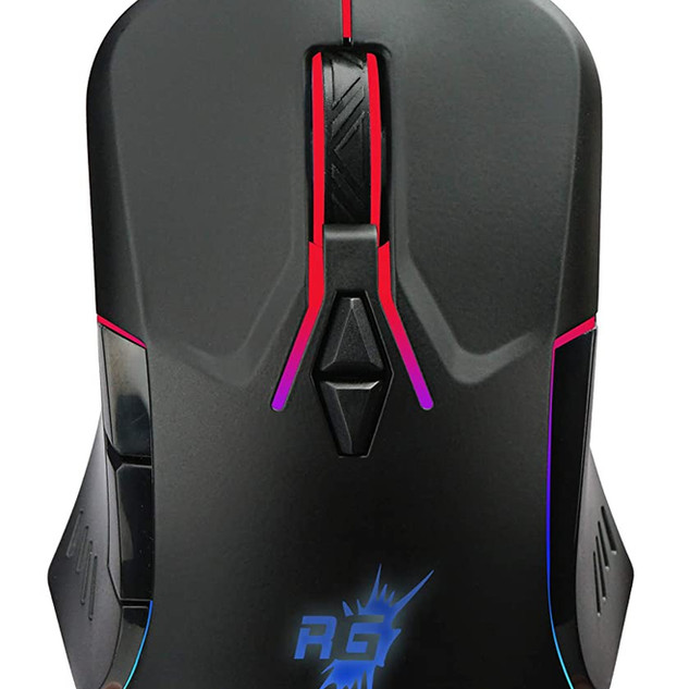 Redgear A-15 Wired Gaming Mouse with RGB, Semi-Honeycomb Design and Upto 6400 dpi for Windows PC Gamers.