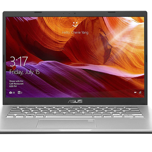 ASUS VivoBook 14 M409DA-EK146T AMD Quad Core Ryzen 5-3500U 14-inch FHD Compact and Light Laptop (8GB RAM/256GB NVMe SSD/Windows 10/Integrated Graphics/FP Reader/1.60 kg), Transparent Silver ₹ 35,990.00