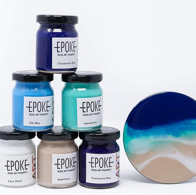 EPOKE Art Resin Pigments Ocean Effect Kit - (Combo of 6)…