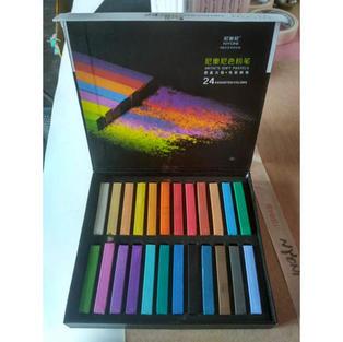 Ondesk Artics Artists' Fine Art Soft Pastel Set of 24, Multicolor,