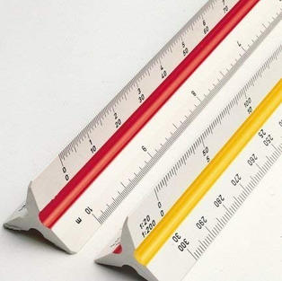 Dream Xplore® Triangle Scale Ruler, 30 cm/12-inch Long Plastic Straight Measuring Tool for Architects, Engineers, School/College Students, Office Employee (1-Piece)