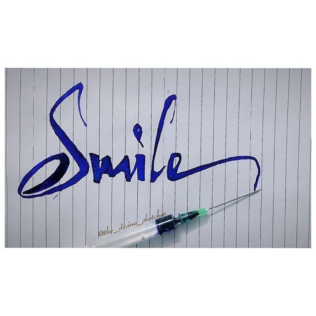 Syringe Calligraphy
