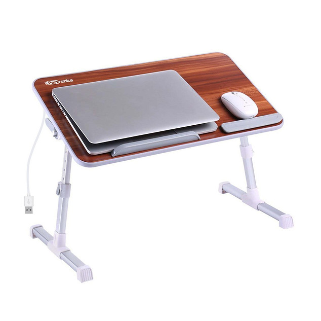 Portronics Adjustable Laptop Table POR-895 (Brown) ₹ 1,649.00