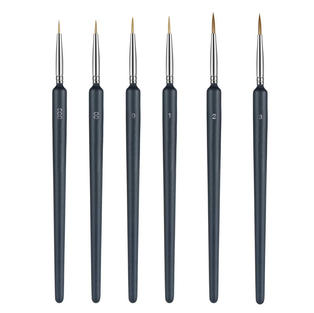ELEPHANTBOAT® Painting Brushes Set, Professional Wolf Fine Tip,Paint Brush Set with Nylon Hair Detail Detailing Painting Drawing (6PC)