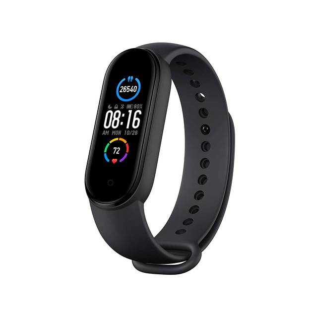 """Mi Smart Band 5-1.1"""" AMOLED Color Display, Magnetic Charging, Personal Activity Intelligence (PAI), 2 Weeks Battery Life, 5ATM Water Resistant ₹ 2,498.00"""