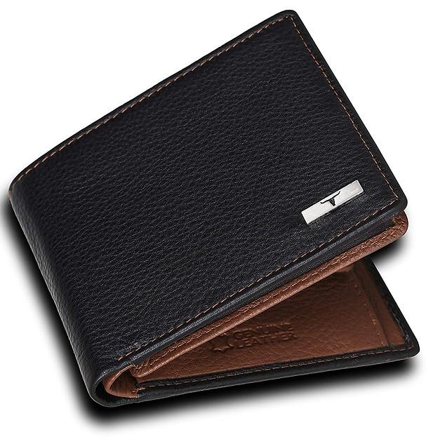 Urban Forest Kyle RFID Blocking Black/Redwood Leather Wallet for Men ₹ 472.00